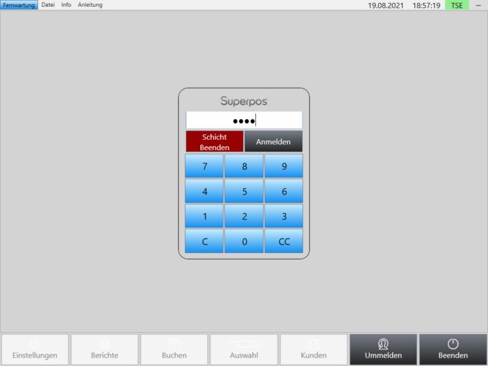 Anmelden Superpos Kassensystem Lieferservice