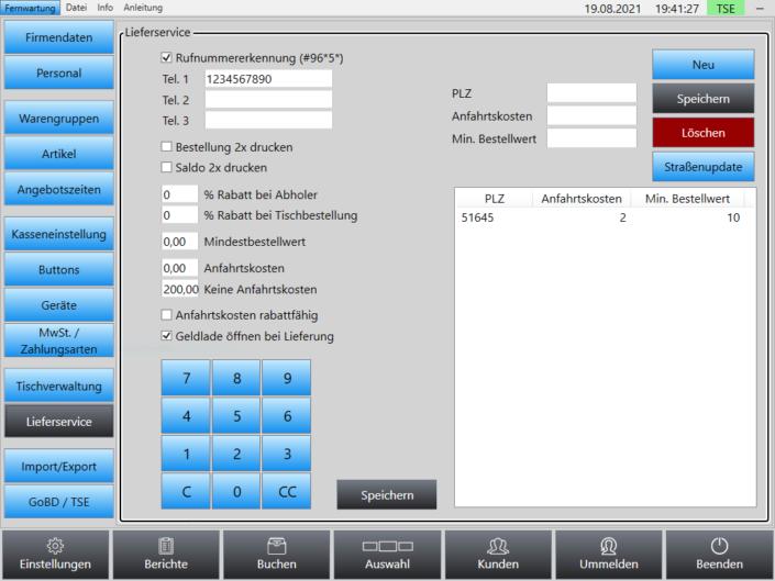 Rufnummernerkennung Superpos Kassensystem Lieferservice